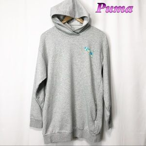 Puma Gray Hooded sweatshirt w pockets M